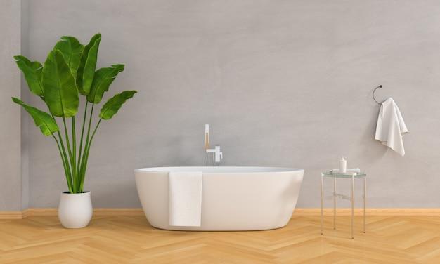 Bathroom interior bathtub Premium Photo