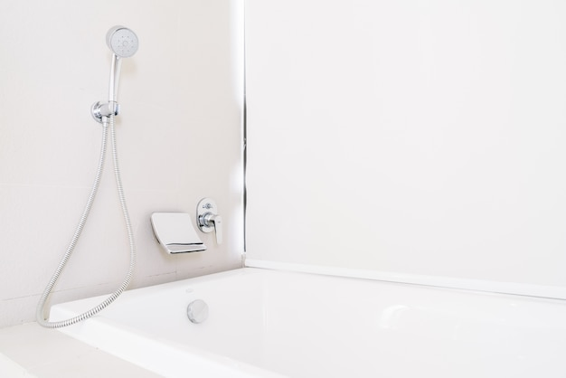 Bathtub with shower Free Photo