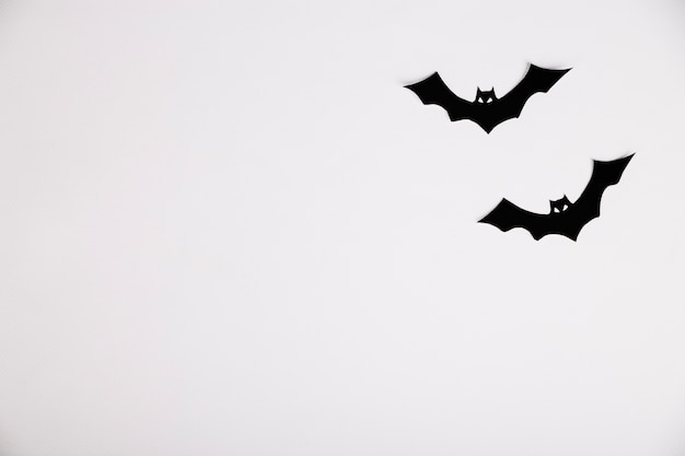 Bats made of paper halloween decoration Free Photo