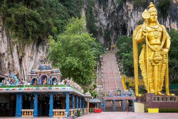 Batu caves statue in kuala lumpur city in malaysia Premium Photo