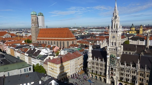 Bavaria Munich Town State Capital Hall Marienplatz Photo