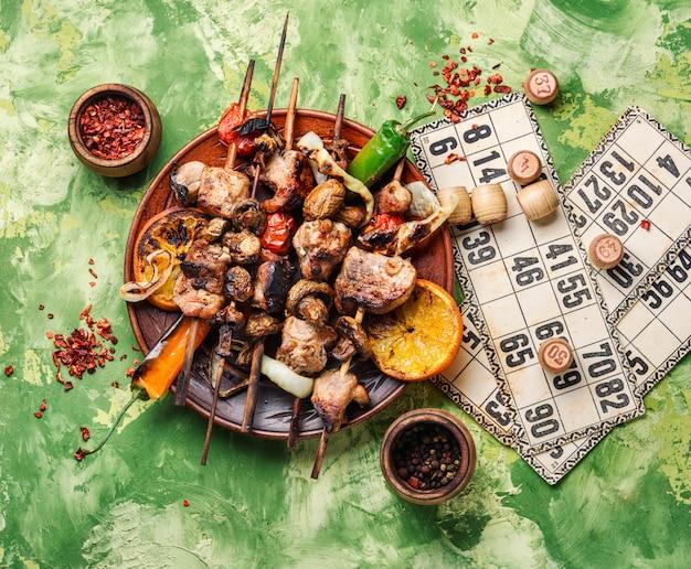 Bbq picnic and lotto Premium Photo