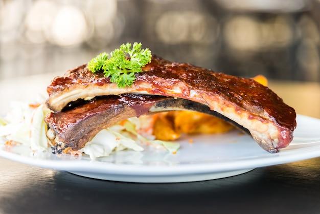 Bbq ribs meat steak Free Photo