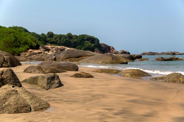 Beach in anjuna, goa, india Premium Photo