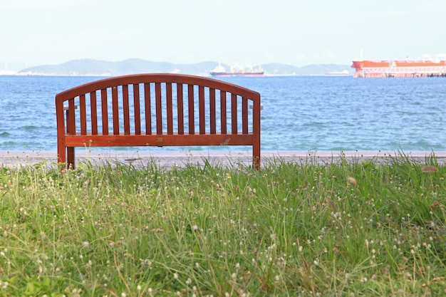 Beach chair with sea landscape Premium Photo