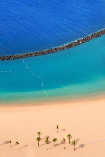 Beach las teresitas in santa cruz de tenerife north Premium Photo