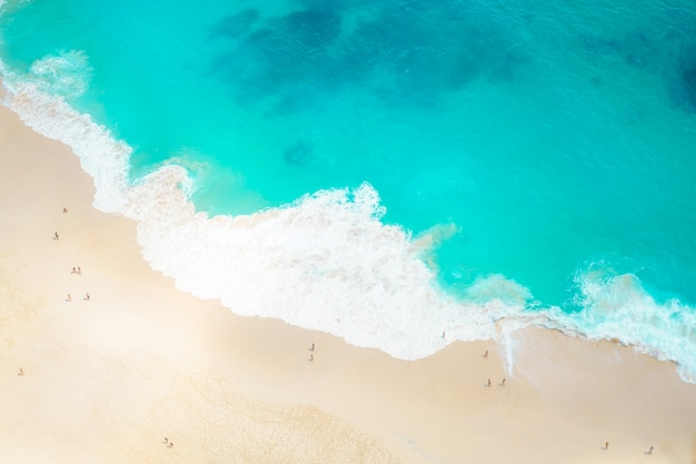 Premium Photo Beach And Sand On The Seashore With Aerial View Background