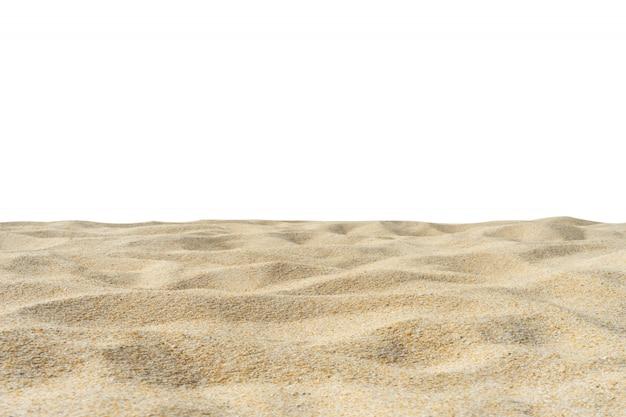 Beach sand texture isolated on white Premium Photo