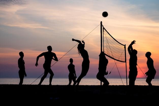 Beach volleyball Premium Photo