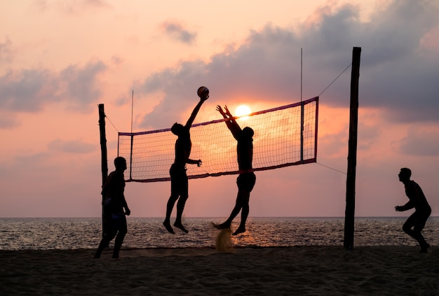 Beach volleyball Premium Photo