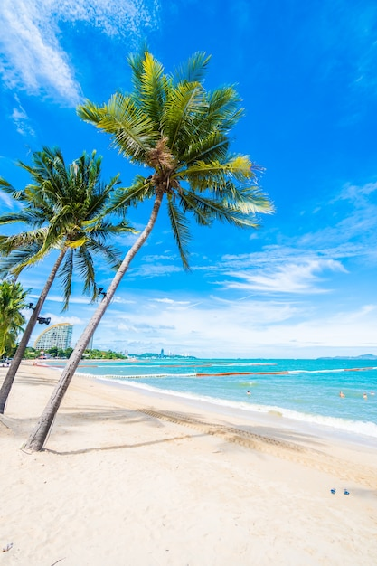 Beach with palm trees | Free Photo