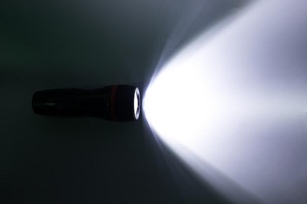 Beam of a flashlight on a white background Premium Photo