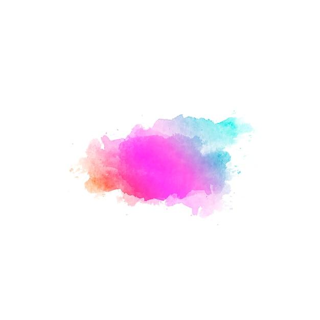 手の美しい抽象的な背景描画水の色の斑点 無料写真