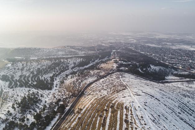 Bellissimo scatto aereo con drone Foto Gratuite