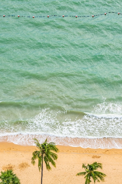 Beautiful aerial view of tropical beach sea Free Photo