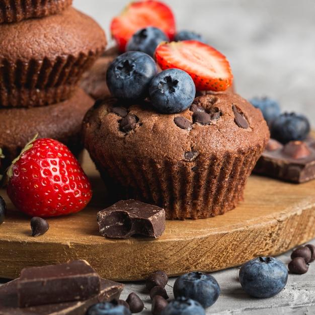 Красивый и вкусный десерт крупным планом Бесплатные Фотографии