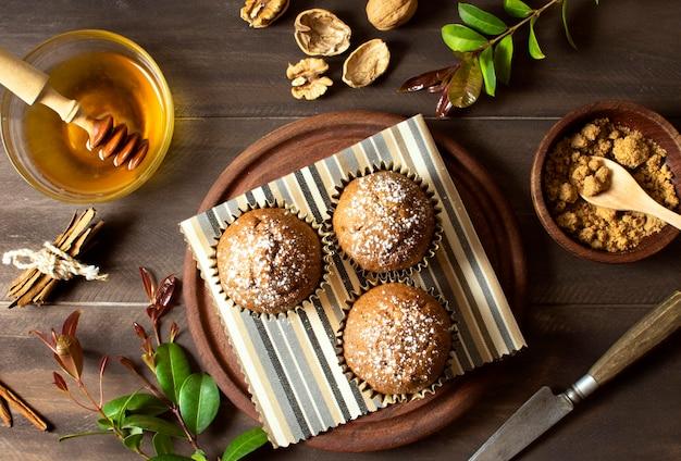 Красивый и вкусный десерт вид сверху Бесплатные Фотографии