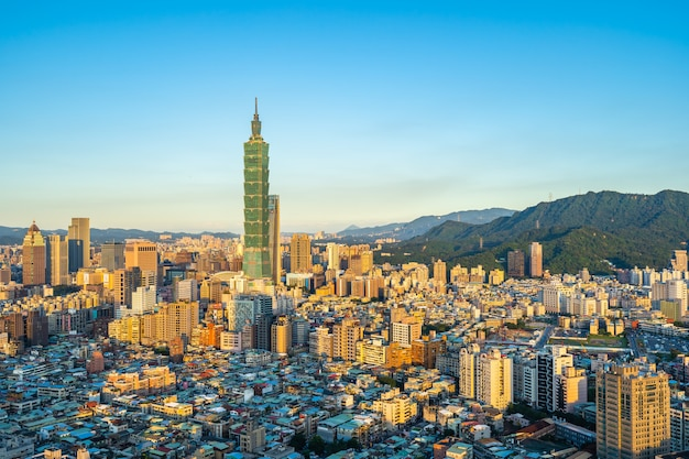 Beautiful architecture building taipei city Free Photo