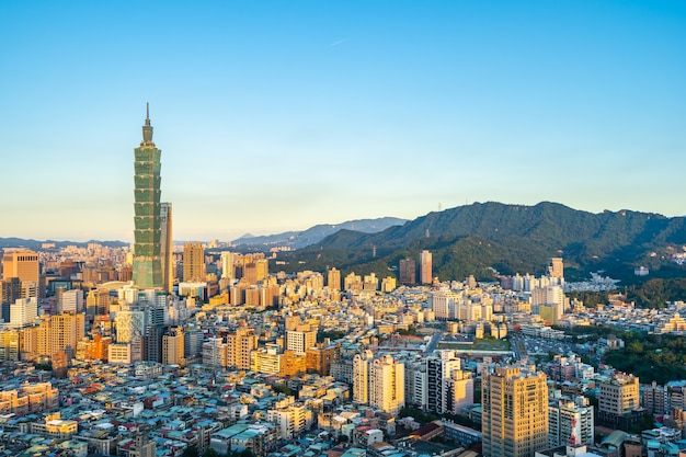 Beautiful architecture building taipei city Free Photo