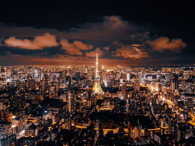 Beautiful architecture and building of tokyo cityscape Free Photo