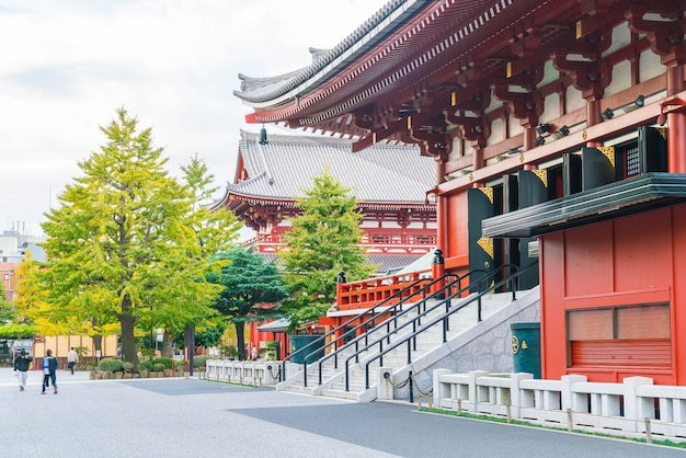 Beautiful architecture at sensoji temple around asakusa area in japan Free Photo