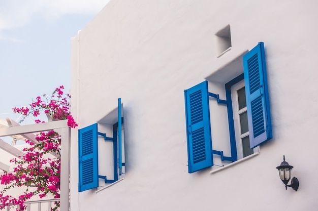 Beautiful architecture with santorini and greece style Free Photo