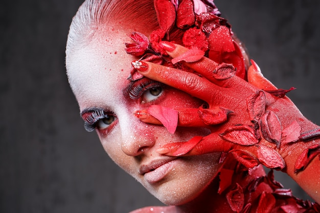Beautiful, artistic makeup Free Photo