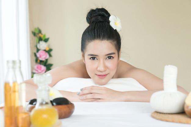 Asian bathing massage for