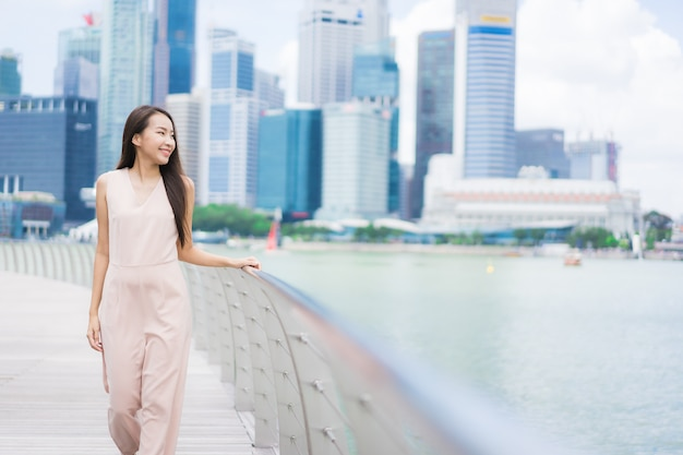 Beautiful asian woman smile and happy Free Photo