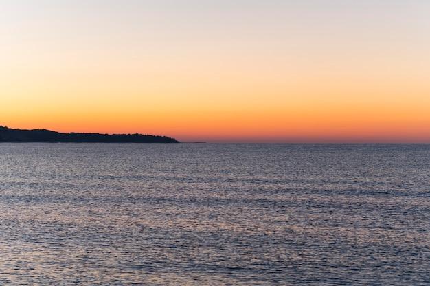Красивый пляжный пейзаж концепция Бесплатные Фотографии