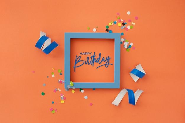 パーティーの装飾と美しい誕生日 無料写真