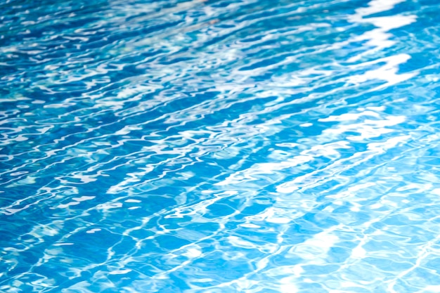 Beautiful blue and white of pool water for abstract background and texture. Premium Photo