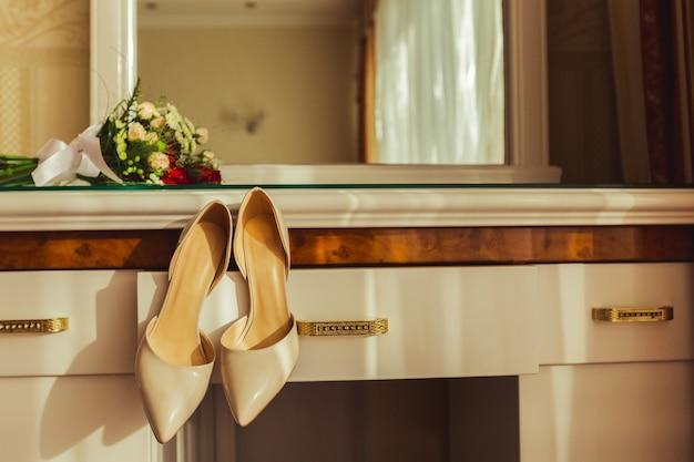 Beautiful bridal bouquet Premium Photo