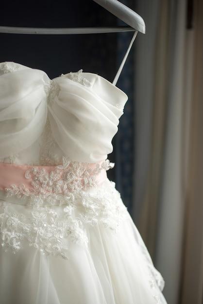 Beautiful bride dress Premium Photo