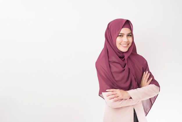 Beautiful business woman with hijab portrait Premium Photo