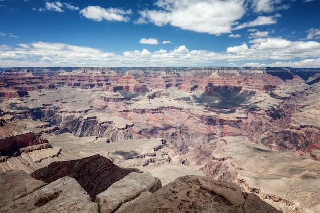 Beautiful canyon landscape, red rocks, blue sky, sunny Premium Photo