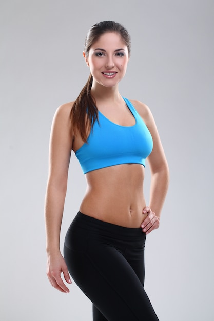 Beautiful caucasian woman in fitness wear Free Photo