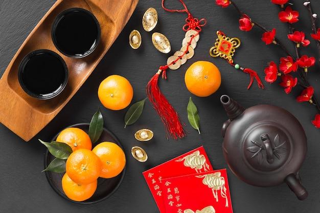 Bello concetto cinese del nuovo anno Foto Gratuite