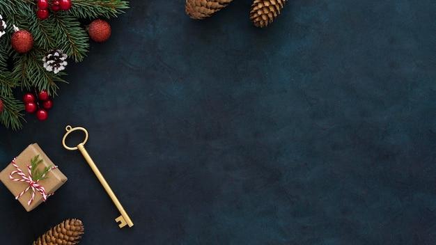 Красивая концепция кануна рождества с копией пространства Premium Фотографии