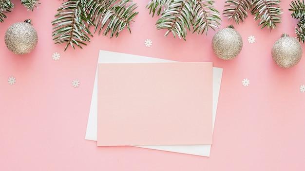Красивая концепция кануна рождества с копией пространства Бесплатные Фотографии