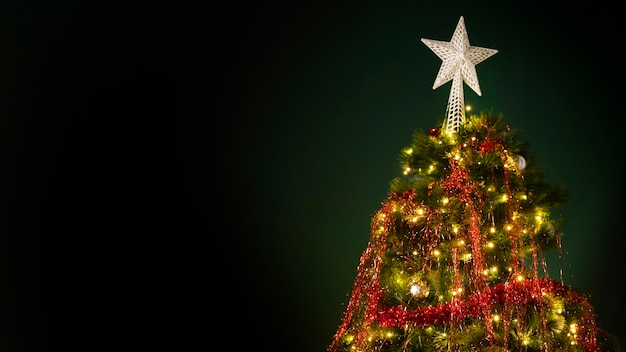 Beautiful christmas tree with copy space Free Photo