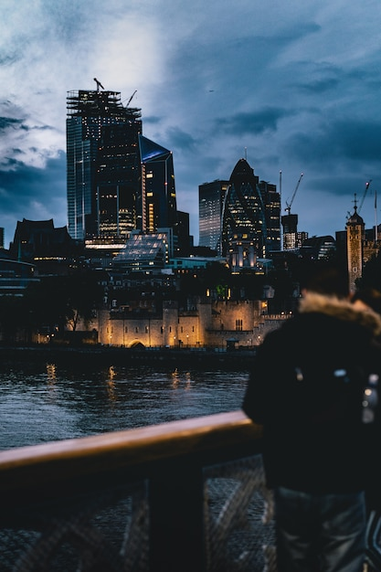 Beautiful city in evening Free Photo