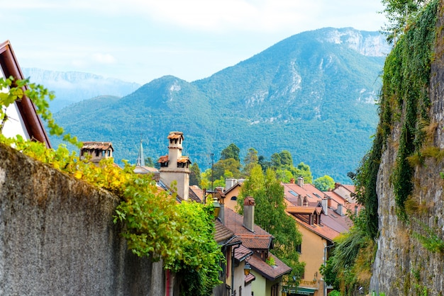 Beautiful city in the mountains Free Photo