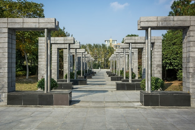 Beautiful city park in jiaxing Premium Photo