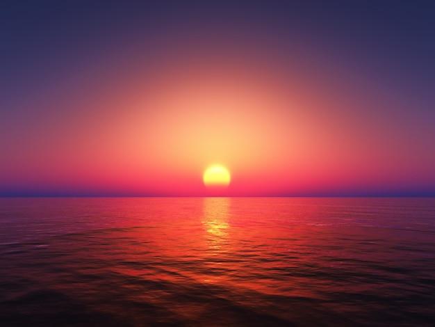 Bel tramonto colorato Foto Gratuite
