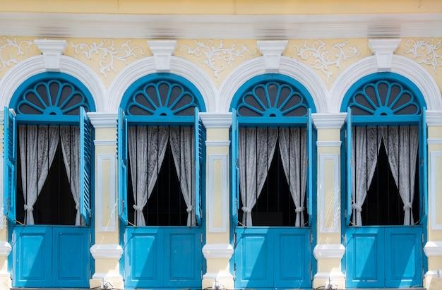 Beautiful and colorful window styles. Premium Photo