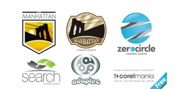 Beautiful Company logo pack of 6 vectors