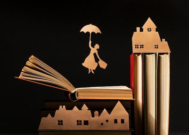 さまざまな本の美しい構成 無料写真