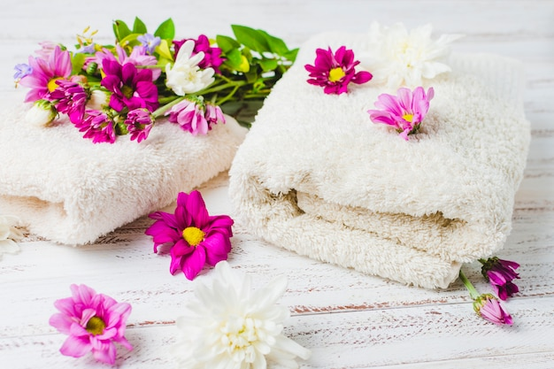 Beautiful composition for spa or bath concept Free Photo