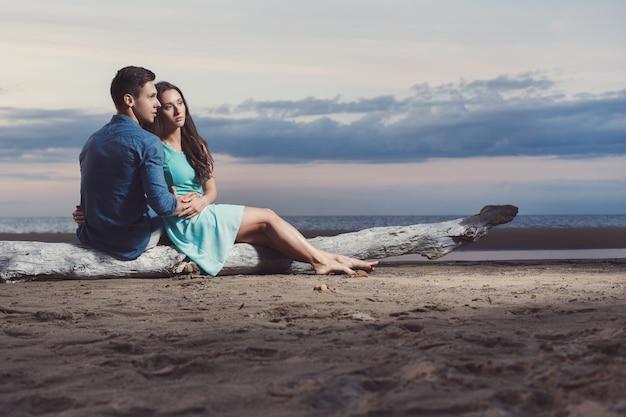 Beautiful couple on the beach Free Photo